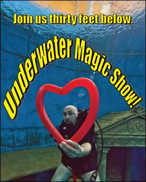 invitaiton to the new underwater magic show from Paul Nathan and Martin Mall
